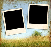 Vintage Blank Photos Stock Images