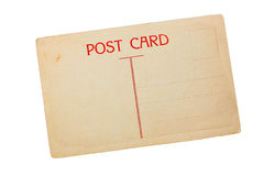 Vintage blank post card Stock Images