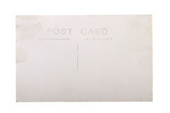 Vintage blank postcard. Vintage 1930s era blank post card with copy space  on white background Stock Photography