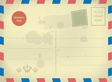 Vintage blank postcard template Royalty Free Stock Photography