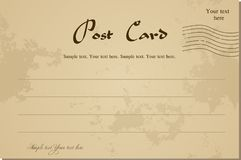 Vintage blank postcard. Vector Stock Images