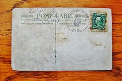 Vintage blank postcard Royalty Free Stock Images