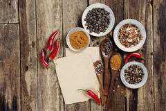 Vintage blank recipe Royalty Free Stock Images