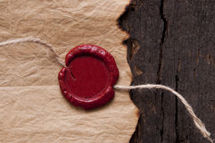 Vintage blank red wax seal Stock Photo
