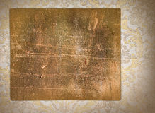 Vintage blank on the renaissance background Royalty Free Stock Photography