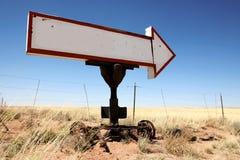 Vintage blank sign arrow Stock Image