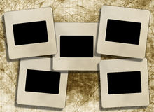 Vintage blank slide photo frames Royalty Free Stock Images