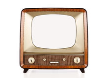 Vintage blank tv with path Stock Image