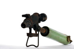Vintage blowtorch. Tools objects Royalty Free Stock Photo