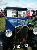 Vintage blue Austin Seven car. Vintage Austin Seven car displayed outdoor at Northumberland Wings & Wheels festival at Eshott Airfield north of Morpeth, England royalty free stock photo
