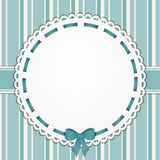 Vintage blue background and border Stock Image