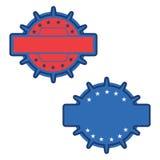 Vintage blue badges Stock Photos