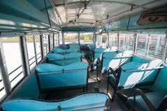 Vintage blue bus Stock Image