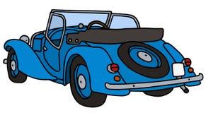 Vintage blue cabriolet. Hand drawn vector illustration Stock Photo