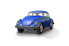 Vintage blue car. On white background Stock Images