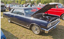 Vintage Blue Chevy Chevelle Stock Photo