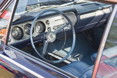 Vintage Blue Chevy Chevelle Interior Royalty Free Stock Image