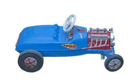 Vintage blue child`s car Stock Photo