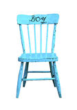 Vintage blue child's chair Stock Image