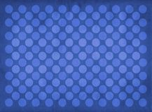Vintage blue circles pattern. Retro blue circles pattern on a faded blue background Stock Photography