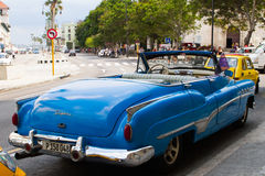 Vintage blue convertable Royalty Free Stock Photo