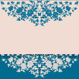 Vintage blue and cream floral background Stock Photos