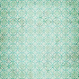 Vintage Blue damask repeat pattern stock illustration