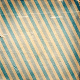 Vintage blue diagonal striped paper background. In square Stock Photo