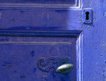 Vintage blue door Royalty Free Stock Photography