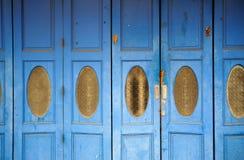 Vintage blue door Royalty Free Stock Photos