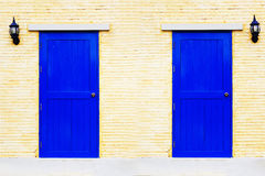 A vintage blue doors royalty free stock photo