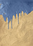Vintage blue dripping paint Royalty Free Stock Images