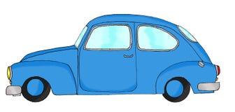 Vintage blue fantasy car Stock Image