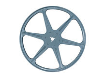 Vintage Blue Film Reel. Vintage blue metal film reel isolated with clipping path Royalty Free Stock Photo