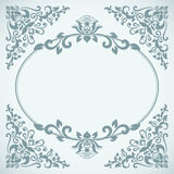 Vintage blue floral frame card template. Vintage blue floral frame card vector template Royalty Free Stock Photography