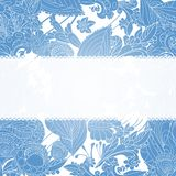 Vintage blue floral ornament background Stock Photography