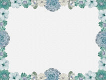 Vintage blue flower frame, sparkled background Stock Photography