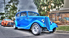 Vintage blue Ford car Royalty Free Stock Image