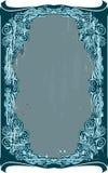 Vintage blue frame Stock Image