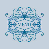Vintage blue frame with vegetable elements Royalty Free Stock Images