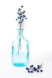 Vintage blue glass bottle Royalty Free Stock Images