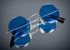 Vintage blue glasses Royalty Free Stock Photography