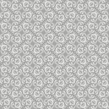 Vintage blue grey ornament, vector seamless pattern in neutral color Stock Images
