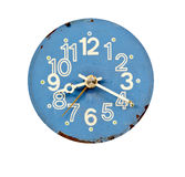 Vintage blue and grunge clock dial Stock Images