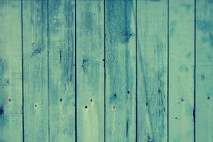 Vintage blue grunge texture of worn wooden planking. Stock Image