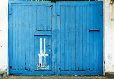 Vintage blue grunge wooden door Royalty Free Stock Image
