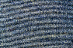 Vintage blue jeans, denim texture background. Royalty Free Stock Photos
