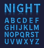 Vintage blue light bulb lamp font or alphabet Royalty Free Stock Photography