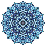 Vintage blue mandala. Royalty Free Stock Photos