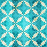 Vintage blue mosaic star seamless Stock Images
